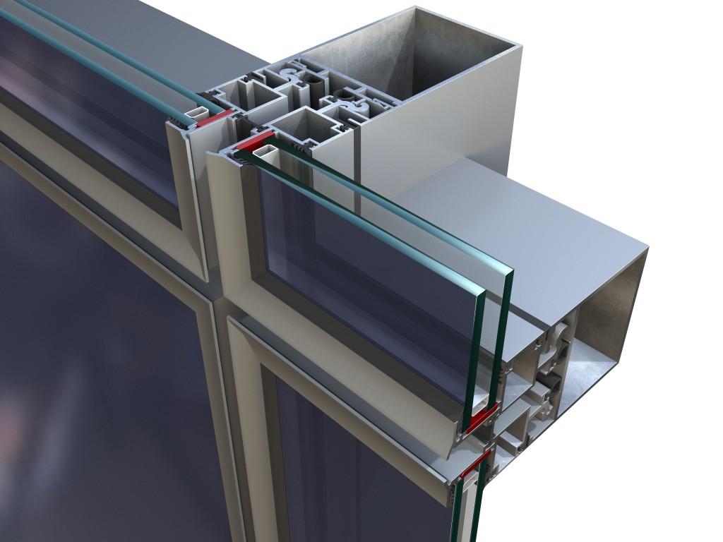 Albio 102 полуструктурни структурни окачени фасади